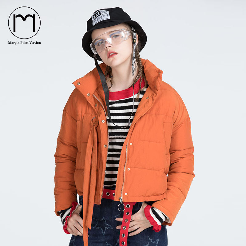Margin New Fashion 2017 Autumn Winter Jacket Women Solid Long Sleeve Female Loose Cotton Padded Coat Short Parkas manteau femme
