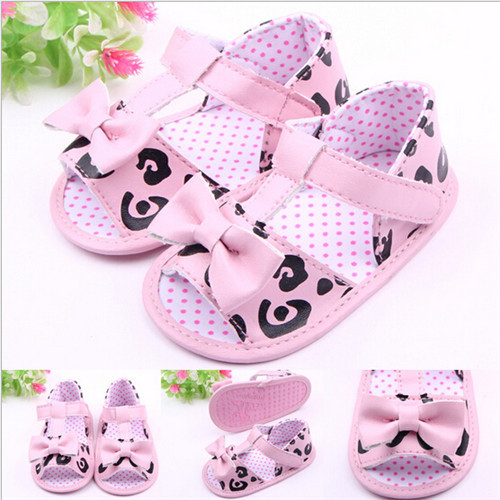 2015 Lovely Baby Girls Shoes Toddler Infants First Walkers Bowknot Newborn Princess Shoes