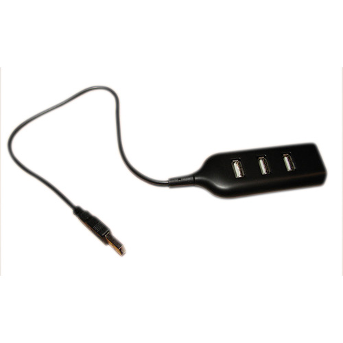 Siyah USB 2.0 Hi-Speed 4-Port Splitter Hub PC Notebook Laptop için