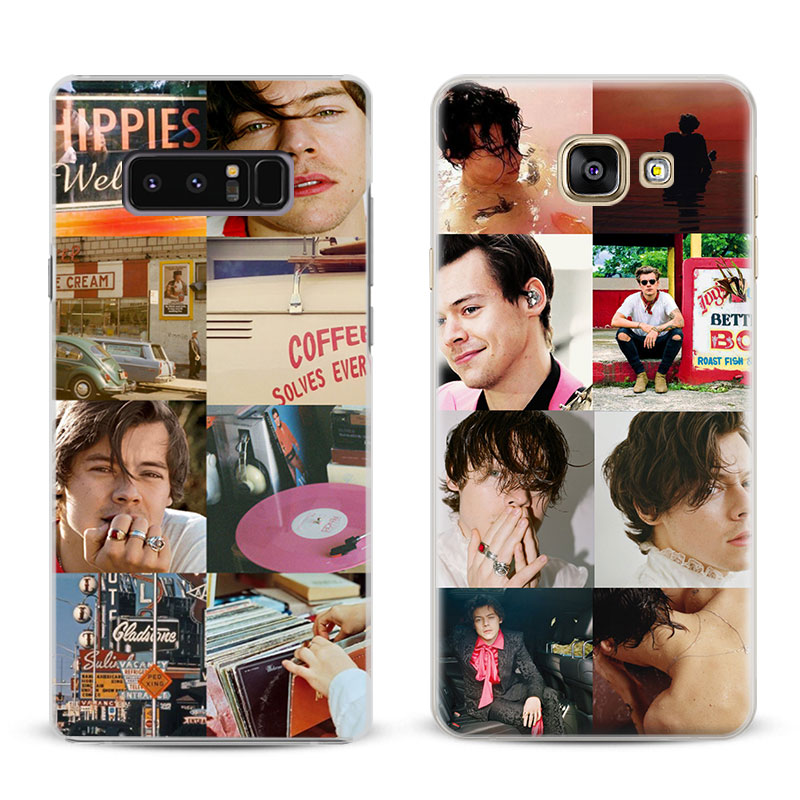 Harry Styles Coque Kapak Shell Samsung Galaxy S4 S5 S6 S7 Kenar S8 S9 artı Not 8 2 3 4 5 A5 A7 J5 J7 2017 Telefon Kılıfı